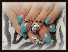 Blue Zebra - Nail Art Gallery