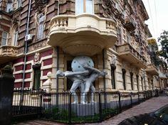 Double Atlantes at Odessa Building - Odessa City, Ukraine.