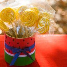 Watermelon Birthday Parties, Fruit Party, Strawberry Shortcake, Alice, First Birthdays, Centerpieces, Crafty, Diy, Ideas Para