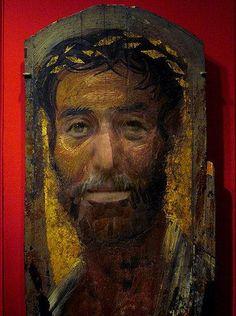 Ritratto funebre 1 - El Fayum 100CE - 300CE Fayum / Romano-Egyptian / Roman / EncausticMore Pins Like This At FOSTERGINGER @ Pinterest