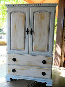 Emilyu0027s Up Cycled Furniture: Shabby Chic Armoire Before And After