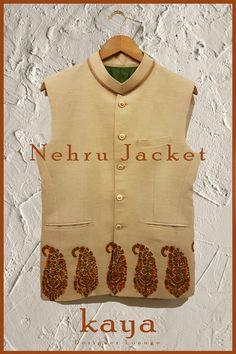 Tradtional Wear Designer Wear Embroidery Nehru Jacket Asian Wear Linen Jacket Fall201718 kayadesignerlounge kdllifestyle kaya Designer Lounge kdl Lifestyle