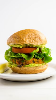 Made with quinoa and sweet potato, this flavorful veggie burger is both yummy and nutritious.