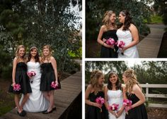I love all the detailing in this real hot pink, black, and white wedding - Jamul, California Real Wedding | Wedding Ideas and Inspiration Blog