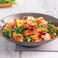 Saut Italian Vegetables, Frozen Vegetables, Mixed Vegetables, Crockpot Recipes, Healthy Recipes, Yummy Recipes, Confort Food, Clean Eating, Healthy Eating