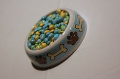 candy dish - puppy baby shower