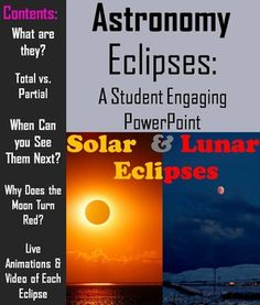 This lesson incorporates easy to understand explanations with interactive/ animations, and questions which keep students engaged while learning about what is and what causes solar and lunar eclipses.