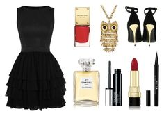 """Night in the city"" by sofia-lodhi on Polyvore featuring Balmain, Decree, Stila, Dolce&Gabbana, Chanel and Clinique"