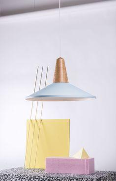 Eikon Shell Oak blue Memphis, Private Club, Cool Designs, Ceiling Lights, Lighting, Product Design, Shell, Blue, Home Decor