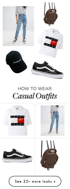 """""""Casually Cool"""" by ellie-64 on Polyvore featuring Liquor n Poker, Tommy Hilfiger, Vans, Balenciaga and Louis Vuitton"""