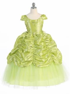 Girls Dress Style 596 - LIME Short Sleeve Satin Dress with Sequin Detailing Pageant Dresses, Satin Dresses, Girls Dresses, Flower Girl Dresses, Dresses For Less, Unique Dresses, Beautiful Dresses, Wedding Party Dresses, Bridesmaid Dresses