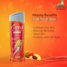Give your skin the amazing benefits of Peach with the Fiama Di Wills Skin Nourishing Beads Shower Gel. #BeYoung