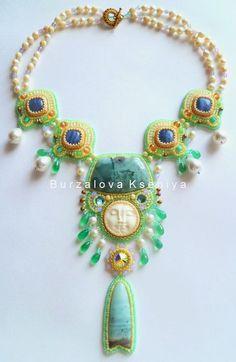 Design of the day – amazing tender necklace Face by Ksenia Burzalova (burzalova-kseniya.gallery.ru)