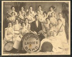 Downtown Campbell: Campbell History.  1898.  The California Ladies Band was an all female band organized by Fred Brohaska in 1898. The band was  comprised of residents from Campbell Los Gatos and San Jose. An all female band was very bold for the time period but the band performed in 1901 for President McKinley when he visited San Jose.  Posted by Campbell Water Tower in partnership and with permission of Campbell Historical Museum.  #music #ladies #allladiesband #bigband #livemusic…