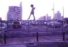 Shintaro Ohata, ''SANPOMICHI -hanging around-'', 2007,  acrylic on canvas