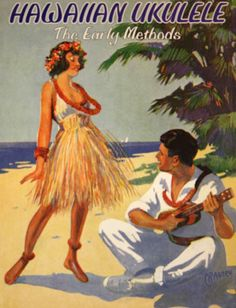 Love these old vintage print- of a Hawaii that probably never existed except in the imagination