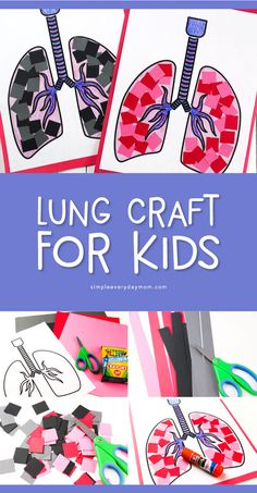 Teach young kids about the respiratory system with this simple lung craft for preschoolers. It's a great activity for human body unit studies. Body Preschool, Preschool Crafts, Kindergarten Activities, Toddler Activities, Childcare Activities, Human Body Crafts For Kids, Human Body Activities, Body Parts Preschool Activities, Human Body Art