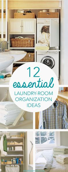 Laundry rooms are notorious for being cramped. If you need new inspiration for making over your laundry room, these laundry room ideas will help you save precious space and time.