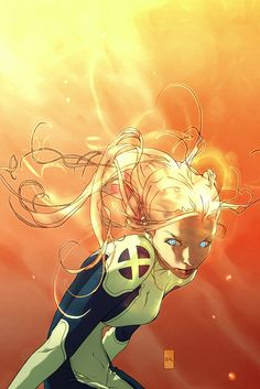 Magma of the X-Men. Art by Joshua Middleton. Comic Book Artists, Comic Book Characters, Comic Artist, Marvel Characters, Comic Books Art, Marvel Comics, Bd Comics, Comics Girls, Marvel Art