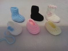 My Easy Crochet 6 in 1 Petite Baby Slippers & Booties inc my Ugg style [w/pattern]