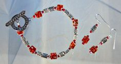 Plus Size Bracelet and Earring Set by blingbychristine on Etsy, $19.00
