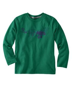 Look at this #zulilyfind! Fjord Green Airplane Tee - Infant, toddler & Boys by Hanna Andersson #zulilyfinds