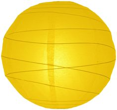 """20"""" Yellow Irregular Ribbed Paper Lantern"""