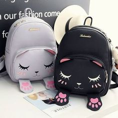 Tips: *Please double check above size and consider your measuremen Cute kawaii cat backpack Cute Purses, Purses And Bags, Cheap Purses, Women's Bags, Fashion Bags, Fashion Backpack, Girl Fashion, Fashion Accessories, Mini Mochila