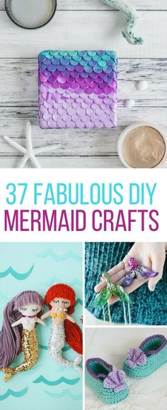 Loving these DIY mermaid crafts - especially those baby booties!