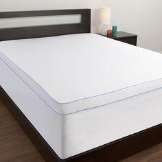 Dream Therapy Microfiber Memory Foam Mattress Topper Cover, White