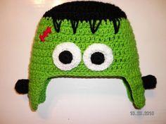 Custom crochet Halloween Frankenstein ear by BellaRayneDesigns, $19.00