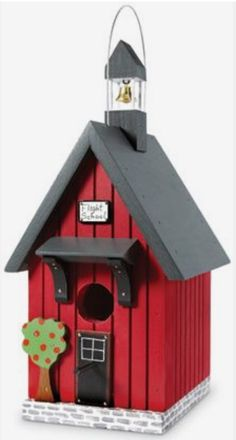 Flight School Birdhouse (Product Detail) - Travel tips - Travel tour - travel ideas Decorative Bird Houses, Bird Houses Painted, Bird Houses Diy, Fairy Houses, Bird House Plans, Bird House Kits, Bird House Feeder, Bird Feeders, Birdhouse Designs
