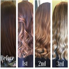 Brown to blonde
