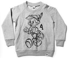 Bondville: Kid Collective x Disney clothes for kids - sketched Pinocchio