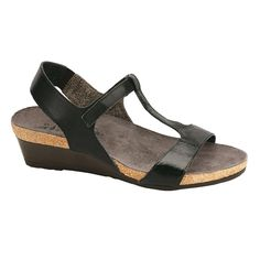 af1967c44a34 Naot Unicorn Women s T-strap Leather Wedge Sandal