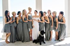 First of all, this wedding is insanely gorgeous. Second of all, I love those bridesmaid dresses!
