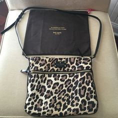 Authentic Kate Spade Leopard crossbody With dust bag; only used a few times, non smoking home kate spade Bags Crossbody Bags
