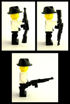 Gangster Rifle -We want you to get a good look at every angle of this fantastic custom LEGO gun. The Gangster Rifle is the perfect gun for your 1920s gangster minifigure to use when out being mischievous. So pick one up today!   And don't forget a Fedora to complete the suave mobster look. Check out more of BrickWarriors' custom gangster accessories here. #LEGO #Minifigure #BrickWarriors #Gangster #Rifle #GangsterRifle #Mobster #LEGOGun #MinifigureGun #LEGOAccessories #MinifigureAccessories