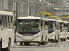 Unidade da Comil construída no município de Lorena, interior de São Paulo, fabricará ônibus urbanos. (Foto: André Bias/TV Vanguarda)