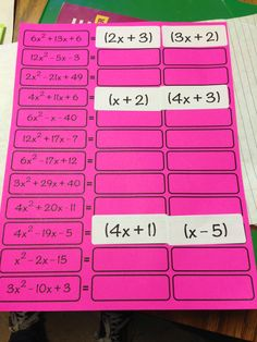 #Made4Math – Factoring Activity with Labels | brandonbarrette.com