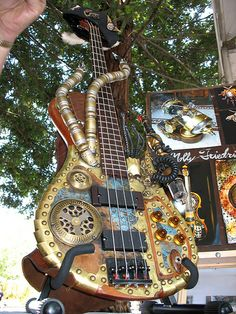 Steampunk Guitar by Soma Fabrications, via Flickr