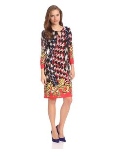 Tiana B Women's Mediterranean Tile Print Dress « MyStoreHome.com – Stay At Home and Shop