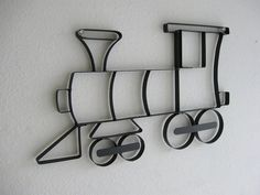 Train Engine Choo Choo Metal Wall Hanging
