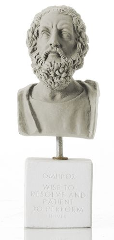 """Homer - """"Wise to resolve and patient to perform"""" Weight: 300 gr Dimension: 17x6x6cm Material: ceramine Color: ice grey"""