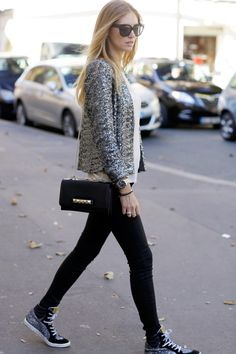 Chiara Farragni of the Blonde Salad knows exactly how to dress up our Jbrand skinnies.
