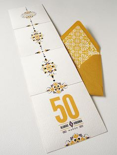 Mexican Tile-inspired Anniversary Invitation