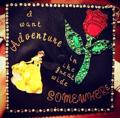 Disney's graduation inspired caps!!! ❤️ I'm so doing this when I graduate with my B.S. in Psychology