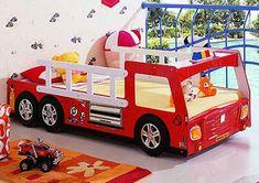 firetruck bed-Cool children car beds for toddler boy bedroom design ideas: colorful childrens car bed theme design ideas for boys bedroom Childrens Car Bed, Toddler Car Bed, Boy Toddler Bedroom, Boy Room, Little Boy Bedroom Ideas, Boys Bedroom Sets, Boys Bedroom Decor, Cool Beds, Kid Beds