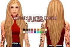 Sims 4 Maxis Match Long Hair That Reaches The Waist This Does Require A Mesh In Order For It To Work In The Game In 2020 Sims Hair Long Hair Styles Maxis Match