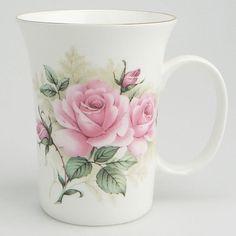 Pink Bouquet Bone China Mug – Set